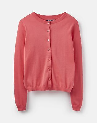 Joules Womens 204545 Button Front Knitted Cardigan Sweater in RED SKY Size 16