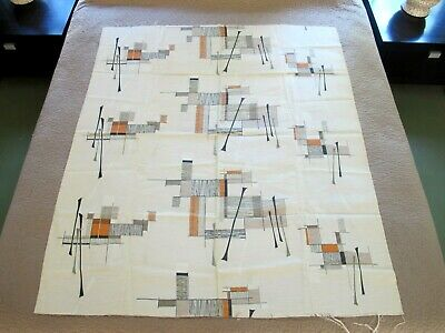 """Vintage Mid Century Modern Fabric Lucienne Day Palisades Style Design; 50"""" x 43"""""""