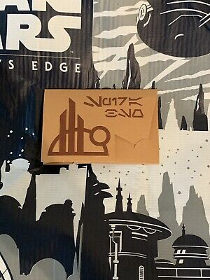 Disney Star Wars Galaxy's Edge Metal Gift Card Batuu Spira Black Spire