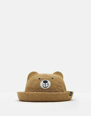 Joules Boys Mikey Character Hat in BROWN BEAR Size 6min12m