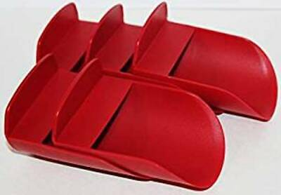 Tupperware Rocker Scoops Set of 5 Flour Sugar Rice Pet Food Red New