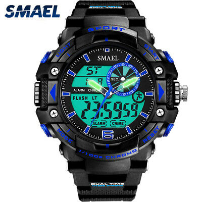 SMAEL Brand Men Watches Fashion Sports Watch Diving Clamping Digital Led Watch