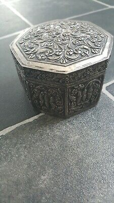 Antique Sterling silver beautiful decorated  box