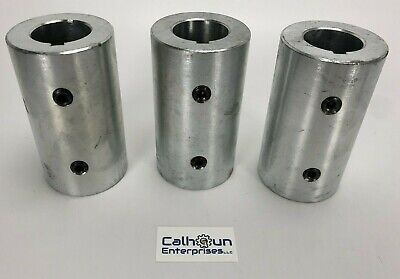 """LOT OF 3- Climax RC-125-S-KW Rigid Shaft Coupling for 1-1/4"""" shafts w/Set Screws"""
