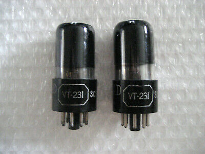 Pair NOS Ken Rad VT-231 6SN7 Smoked Glass! Same Batch! Early 1940s!
