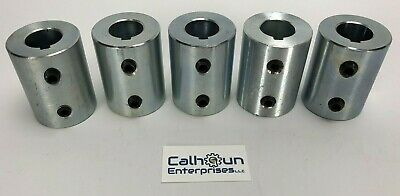 """LOT OF 5- Climax RC-075-S-KW Rigid Shaft Coupling for 3/4"""" shafts w/Set Screws"""