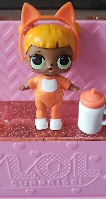 Lol Surprise Doll Baby Cat Series 1 Ultra Rare Htf Orange With Cat Ears So Cute