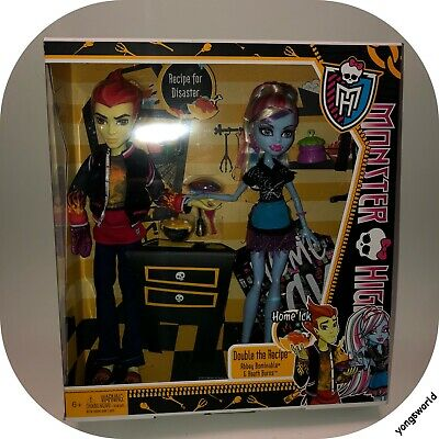 Monster High Heath Burns Abbey Home Ick 2 Pack Doll Outfit Accessories Diary NIB