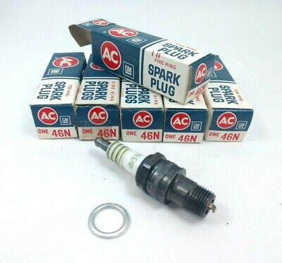 Set of 6 Vintage ACDelco 46N Spark Plugs
