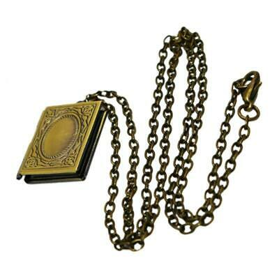 Antique Stainless Steel Women Necklace Photo Perfume Pendant Chain Jewelry