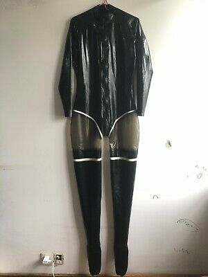Hot Sale Latex Catsuit  Latexanzug Zentai Kostüm 100% Rubber Gummi Fixed S-XXL