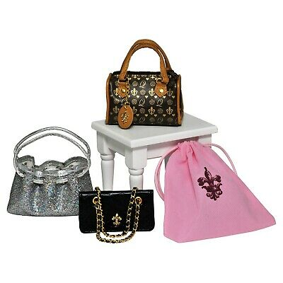 """The Queens Treasures 3 Pc Purse Set Accessories Fits American Girl 18"""" Dolls New"""