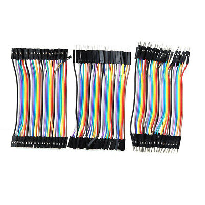 120Pcs Good Male to Female Dupont Wire Jumper Cable for Arduino Breadboard 11cm