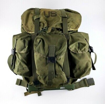 US Military Army Combat Field Pack LC1 Alice Rucksack With Metal Frame