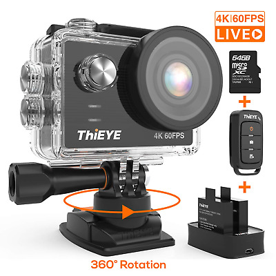 ThiEYE T5 Pro Action Camera Ultra 4K 60fps 20MP Live Streaming Touch Screen EIS