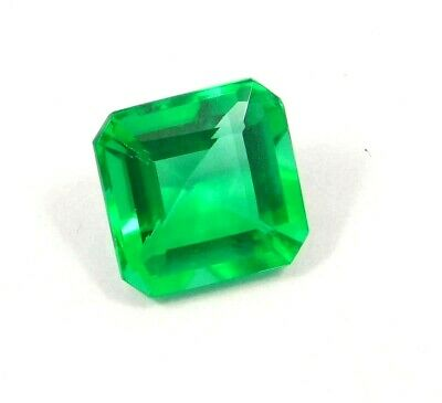 Treated Faceted Emerald Gemstone12CT 12x12mm NG16050