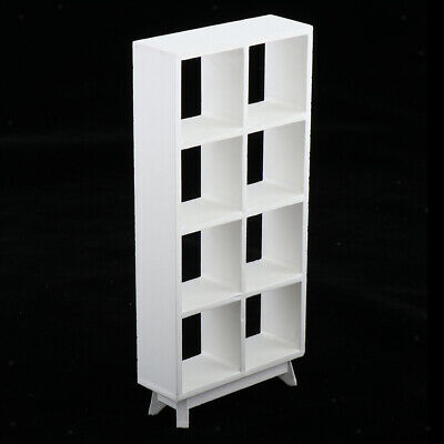 1/12 Miniature Wooden Modern Showcase Bookcase Cabinet for Dollhouse Items