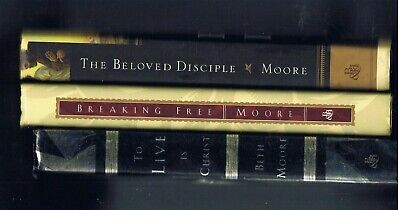 3 Book Lot - Beth Moore - Breaking Free & To Live Is Christ & Beloved Disciple