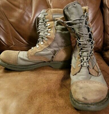 Corcoran Marauder USAF Military Tactical Boots Sage Green & Tan Suede Size 10 D