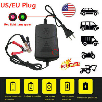 12V Battery Charger for Car Truck Motorcycle Maintainer Amp Volt Trickle 2019 US