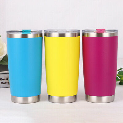 600ML Travel Mug Tea Coffee Water Vacuum Cup Thermos Bottle Stainless Steel US
