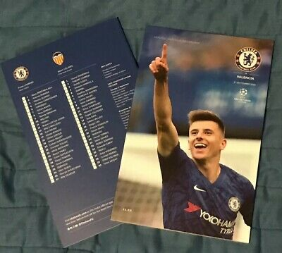Chelsea Vs Valencia Champions League Group Stage Match One Programme 17/09/19
