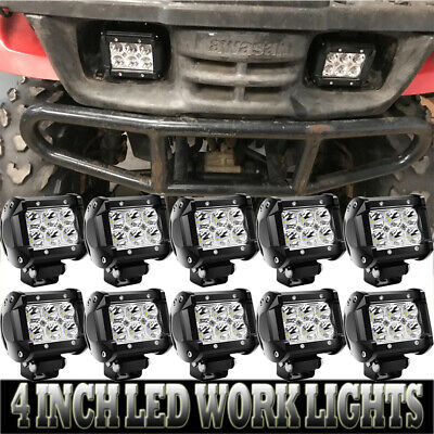 10X 4inch 180W LED Work Light For Driving Fog ATV Offroad CUBE Pods New Lights