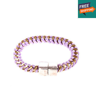 Chain Bracelet Two Tone Round Design Magnetic Clasp - From POPPRI on eBay