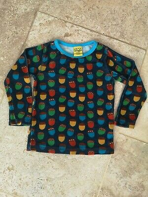 Very Good Condition Duns organic Velour Acorn Top 86-92 12-24 Months
