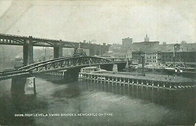 PC NEWCASTLE UPON TYNE HIGH LEVEL SWING BRIDGE  NORTHUMBERLAND c1910