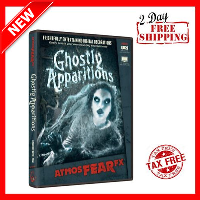 New Ghostly Apparitions Digital Decorations DVD for Halloween Holiday Projection
