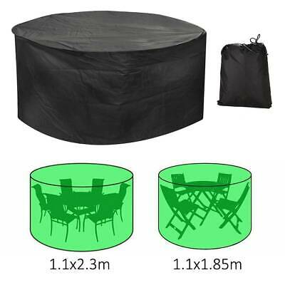 Large Round Waterproof Outdoor Garden Patio Table Chair Set Furniture Cover UK