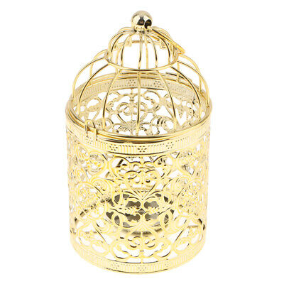1x Antique Moroccan Style Birdcage Iron Candle Holder Hollow Out Hanging Lantern