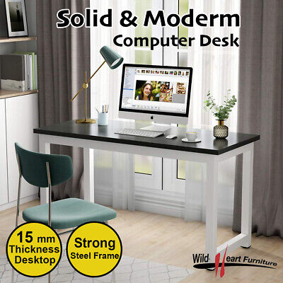 Computer Desk Study Office Storage B&W PC Laptop Table Student Home Writing Tabl