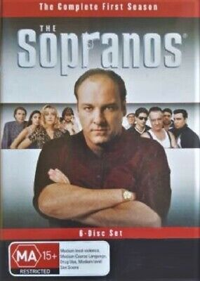 James Gandolfini The Sopranos 10 DVD Discs Seasons 1 & 5 Mafia Gangster Cult TV
