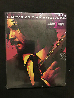 JOHN WICK 3 PARABELLUM Steelbook Bluray DVD BRAND NEW Target Exclusive SOLD OUT