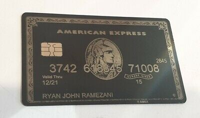 American Express Black Centurion Card Metal