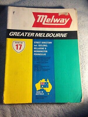 Melbourne street directory. Melway 17th edition 1987