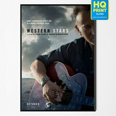 Western Stars Bruce Springsteen Poster Thom Zimy Movie Music 2019 | A4 A3 A2 A1