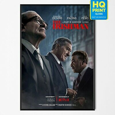 The Irishman Crime Movie 2019 Poster Martin Scorsese Robert De Niro A4 A3 A2 A1
