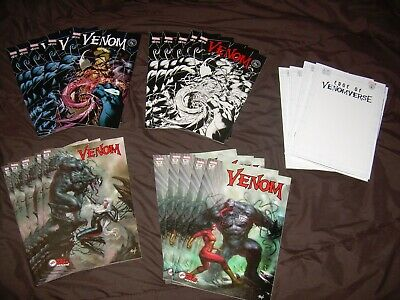 Lot of 26 Venom Variants 160 161 Parrillo 6 Color B/W Megacon Venomverse Sketch