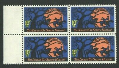 UnUsed US Postage Block 10 Cent Stamps The Legend of SLEEPY HOLLOW