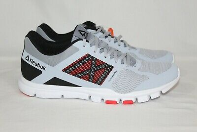 Reebok Men's Yourflex Train 11 Mt Training Size 10.5 Grey/Shadow/BLK/WHT/Red NEW
