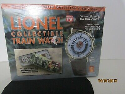 Lionel Trains Watch New In Box w/collectible tin   Train sounds Runs On Track