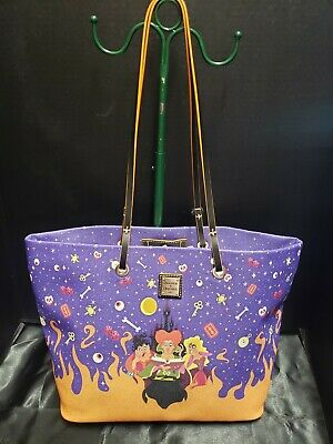 Disney Dooney Bourke Mickey's Halloween Hocus Pocus Addison Shopper Tote NWT
