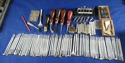 118 Leather Craft Tools,85 Punches,Blanchard Pricking Tools,Needle,Gouge Chisels