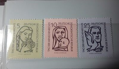 East DDR  1956,  Human Rights day unmounted mint stamps