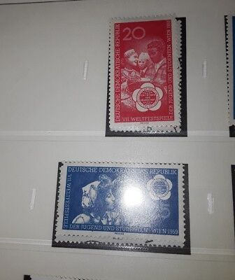 East Germany DDR 1959 7th world &students festival unmounted mint set