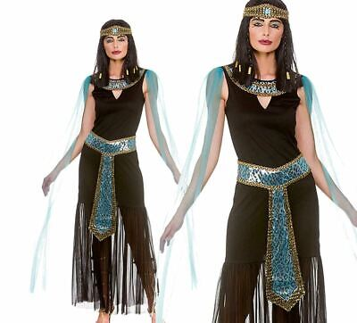 Charming Cleopatra Ladies Fancy Dress Egyptian Queen Womens Adults Costume 6-24