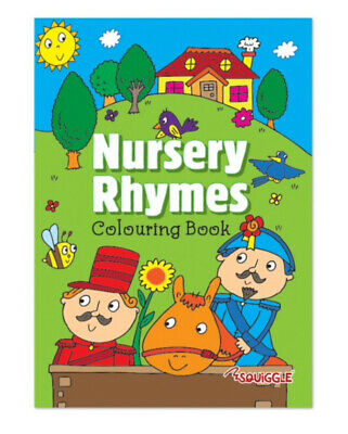 CHILDREN'S  Nursery Rhymes Colouring Book 19 Fun Popular Rhymes + Pictures Books